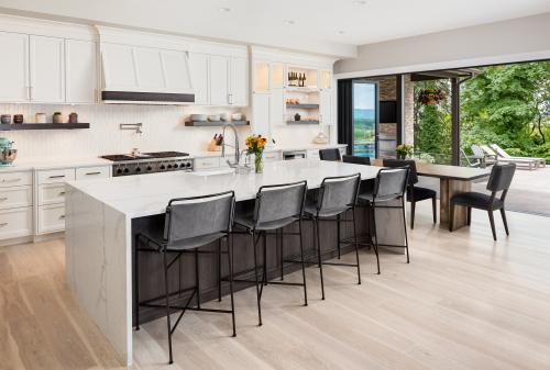 Desain Dapur Minimalis dengan Pemandangan yang Indah